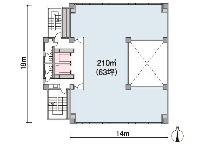 基準階平面図